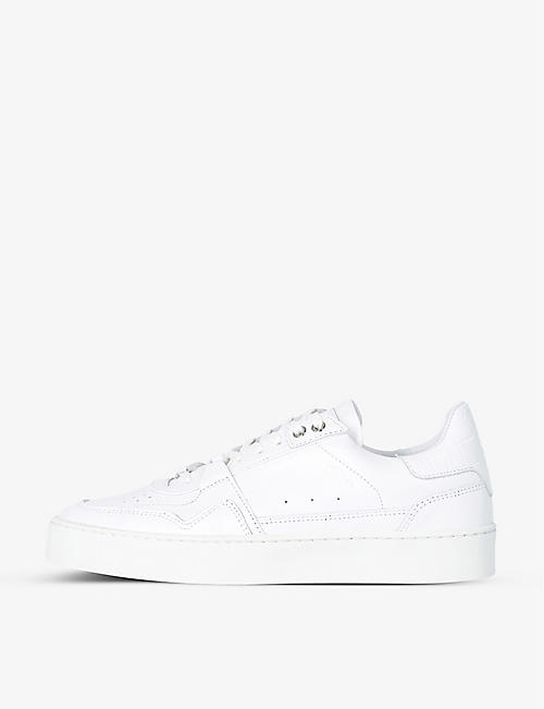 THE KOOPLES: Perforated leather low-top trainers