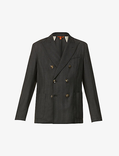 BARENA VENEZIA: Double-breasted wool-blend blazer