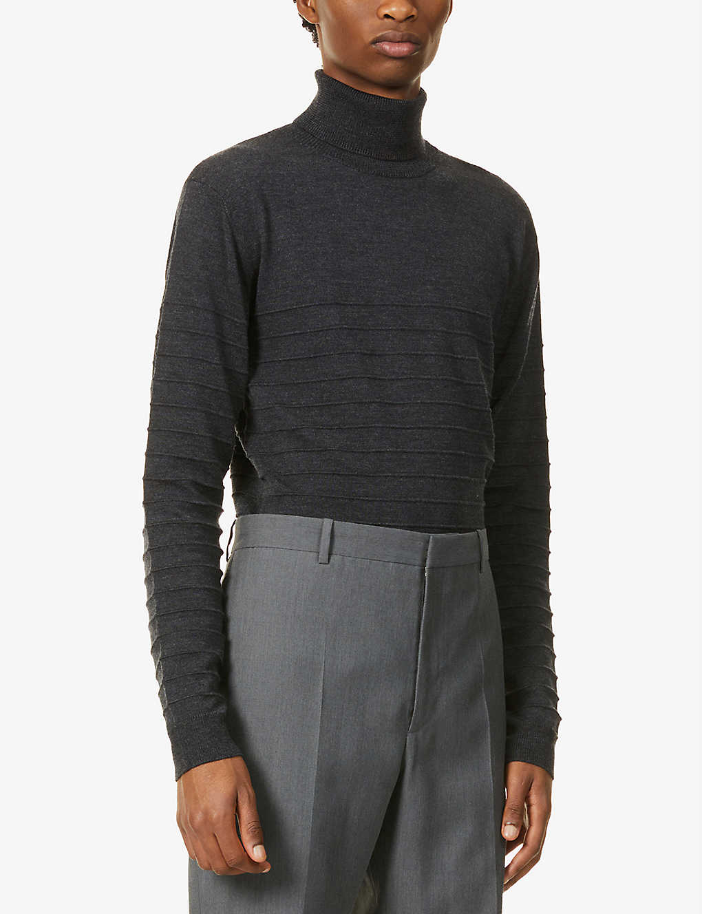 BARENA VENEZIA: Turtleneck striped relaxed-fit wool jumper