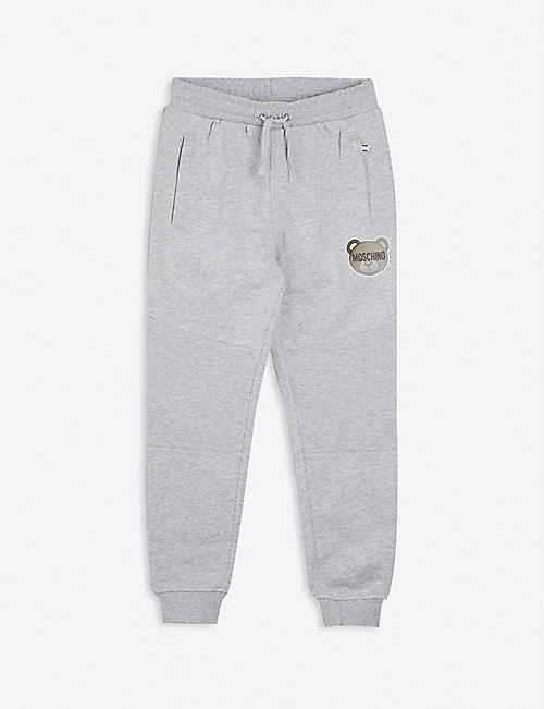 MOSCHINO: Logo-print cotton jogging bottoms 4-14 years