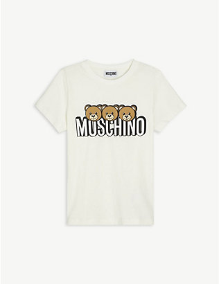 MOSCHINO: Bear logo-print T-shirt 4-14 years
