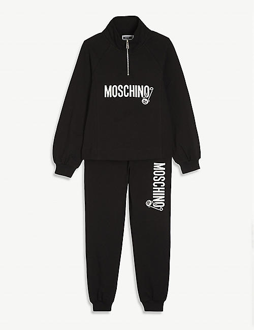 MOSCHINO: Logo-print cotton tracksuit 4-14 years