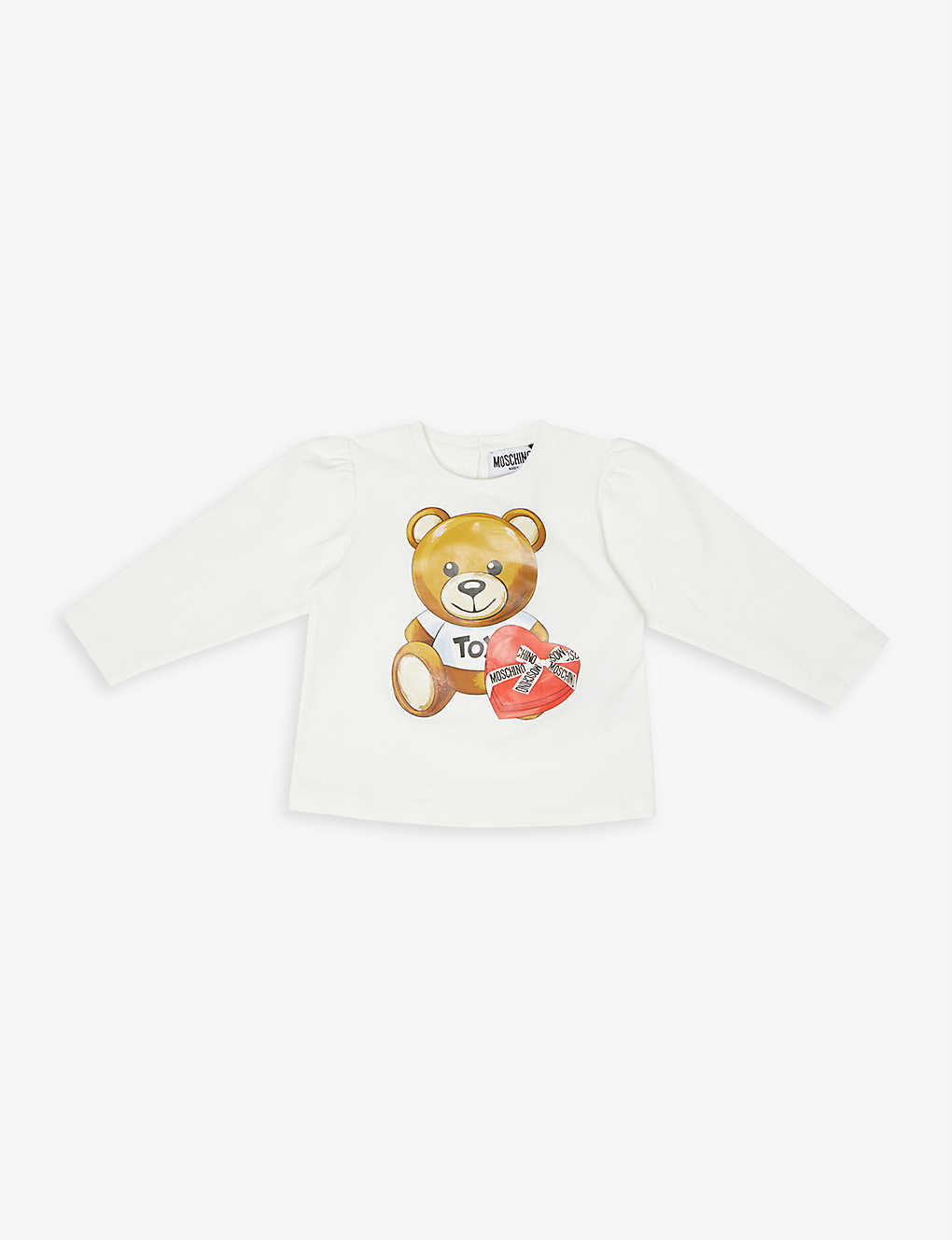 MOSCHINO: Chocolate box bear long sleeve T-shirt 3-36 months