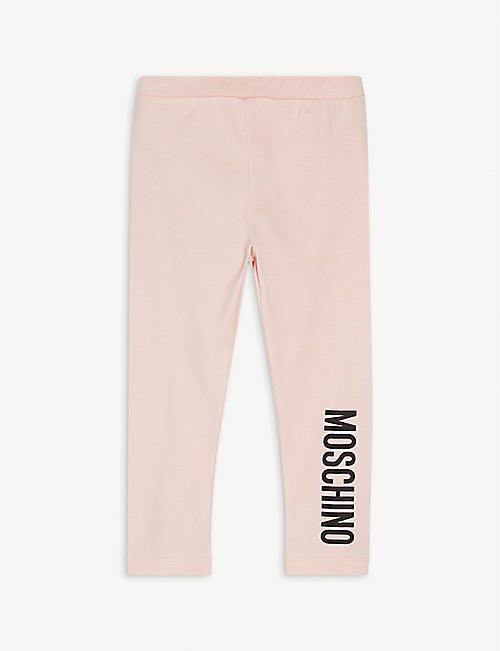 MOSCHINO: Logo-print cotton-blend leggings 3-36 months