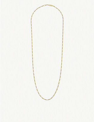 NORTHSKULL: 18ct gold-plated sterling silver vermeil chain necklace