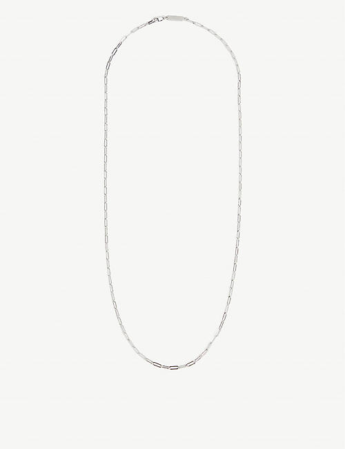 NORTHSKULL: Rectangular sterling-silver chain necklace