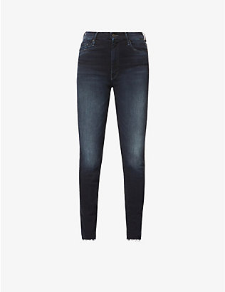 MOTHER: The Looker frayed-hem high-rise jeans