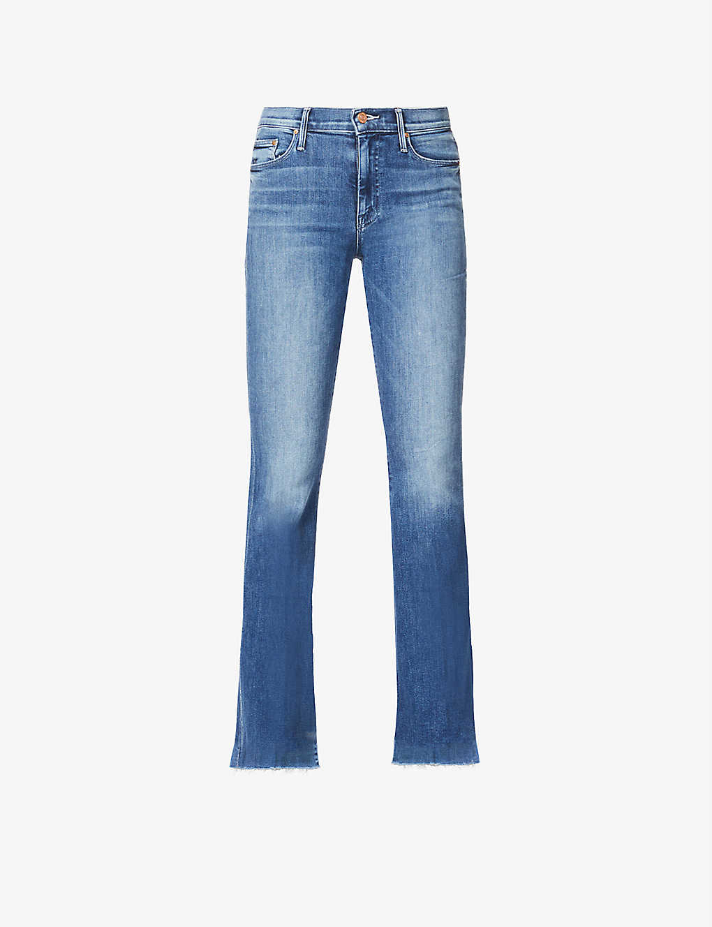 MOTHER: The Weekender Fray slim-fit flared jeans