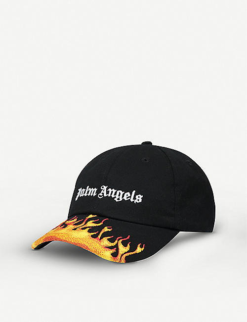 PALM ANGELS: Logo-embroidered cotton cap