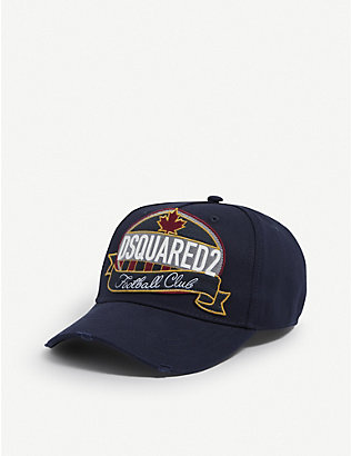 DSQUARED2 ACC: Football club badge cotton cap