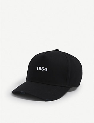 DSQUARED2 ACC: 1964-print cotton baseball cap