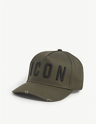 DSQUARED2 ACC: Icon logo-embroidered cotton baseball cap