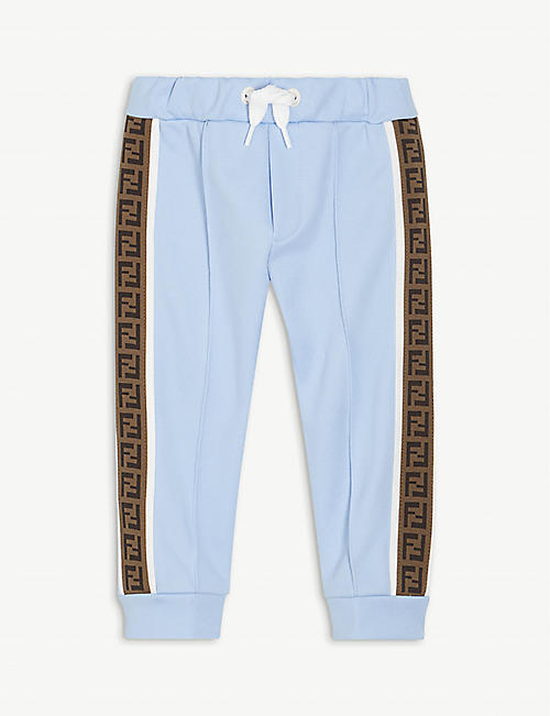 FENDI: Logo-tape jersey jogging bottoms 6-24 months