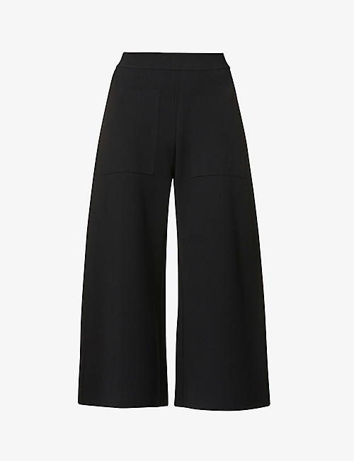 STELLA MCCARTNEY: Cropped high-rise stretch-jersey trousers