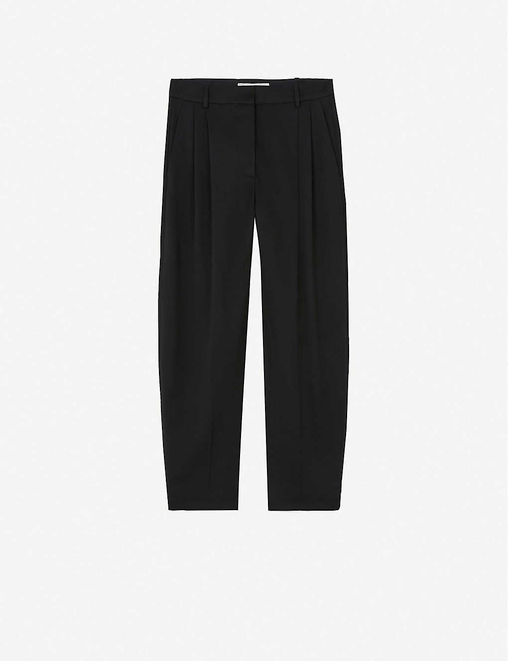 STELLA MCCARTNEY: Tapered mid-rise wool trousers