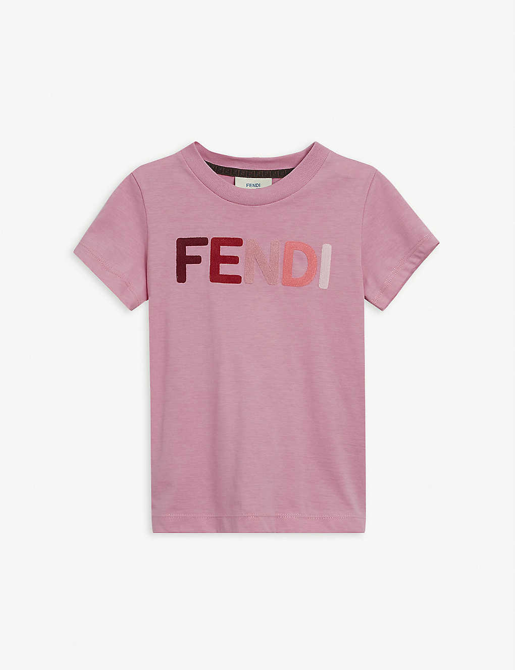 FENDI: Logo-print cotton T-shirt 4-14 years