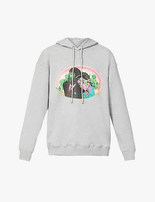 OPENING CEREMONY: Figures graphic-print cotton-jersey hoody