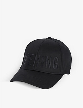 OPENING CEREMONY: Logo-embroidered cotton cap