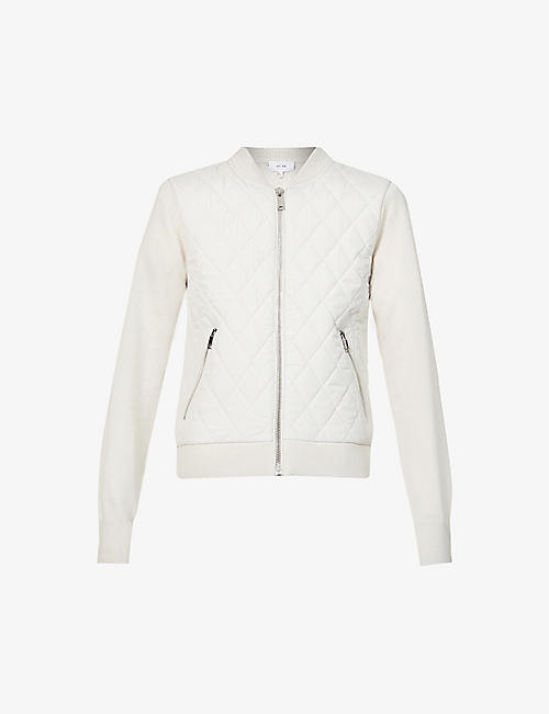 REISS: Ayla quilted jersey jacket
