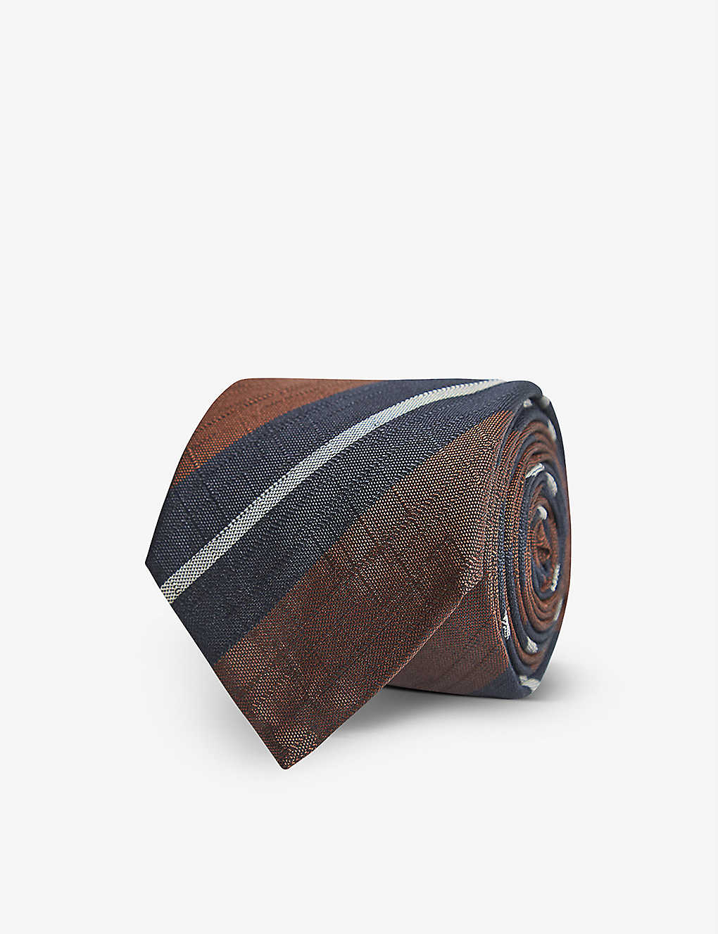 REISS: Bari striped silk-blend tie