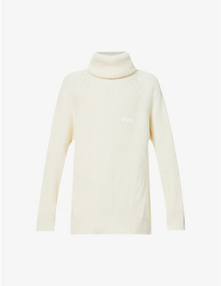 GCDS: Turtleneck wool-blend jumper