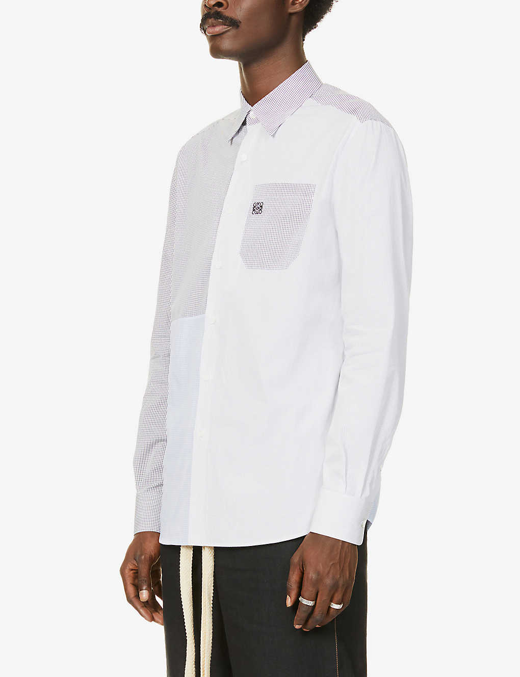 LOEWE: Patchwork relaxed-fit cotton shirt