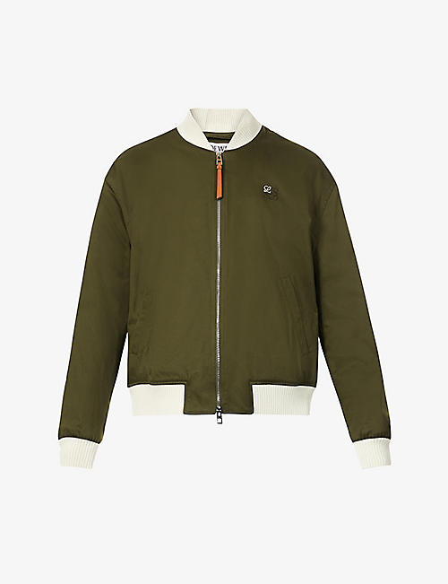 LOEWE: Zipped cotton and wool-blend bomber jacket
