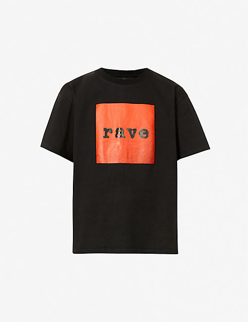 MISBHV: Rave graphic-print cotton-jersey T-shirt