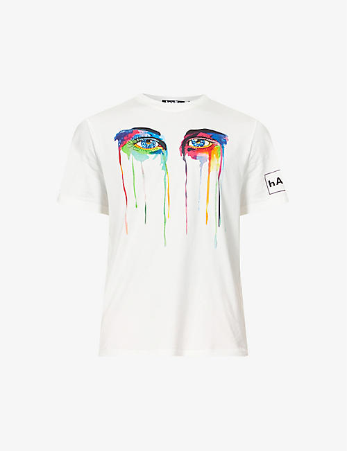 HACULLA: Graphic-print cotton-jersey T-shirt