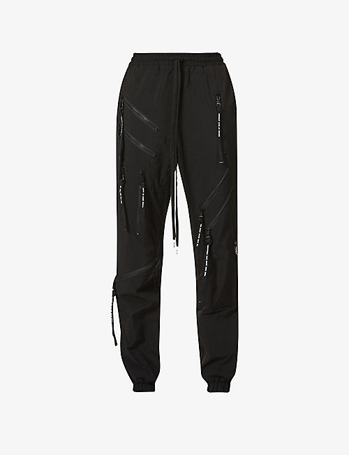 HACULLA: Side-stripe shell jogging bottoms
