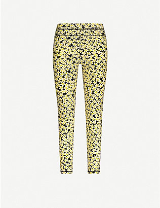ADAM SELMAN SPORT: High-rise daisy-print stretch-woven leggings