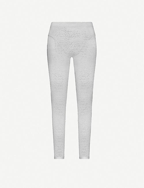 ADAM SELMAN SPORT: French Cut high-rise stretch-lace leggings