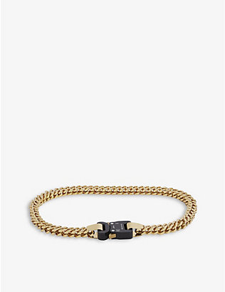 1017 ALYX 9SM: Cubix rollercoaster-buckle gold-tone necklace