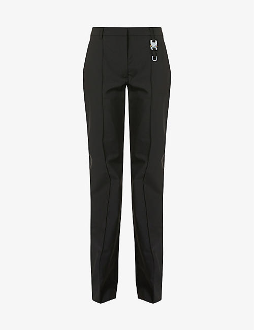 1017 ALYX 9SM: Buckle-embellished wide high-rise woven trousers