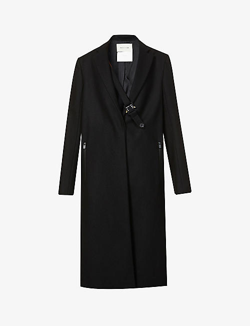 1017 ALYX 9SM: Belted wool-blend coat
