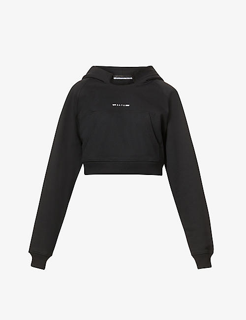 1017 ALYX 9SM: Visual cropped cotton-blend hoody