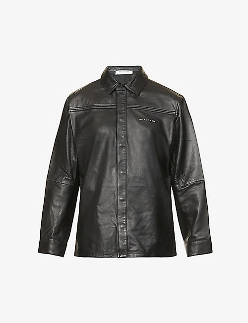 1017 ALYX 9SM: Drake logo-print leather shirt
