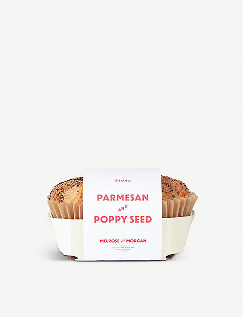 MELROSE & MORGAN: Parmesan and poppy seed rounds 150g