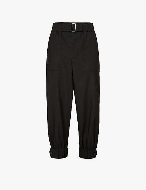 ISSEY MIYAKE: Relaxed-fit tapered turn-up crepe trousers