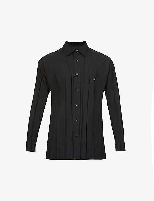 ISSEY MIYAKE: Pleated relaxed-fit crepe shirt
