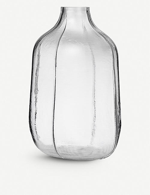 NORMANN: Step glass vase 31cm