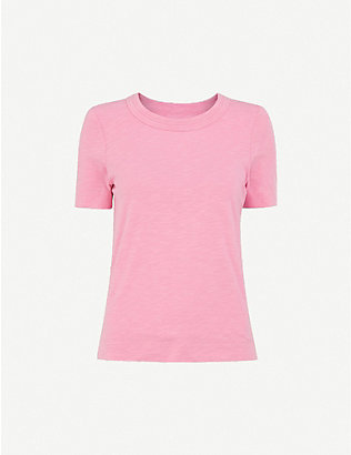 WHISTLES: Rosa double-trim cotton-jersey T-shirt