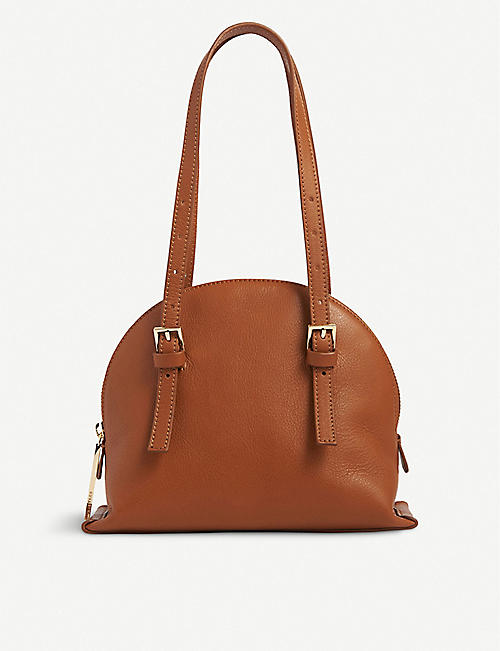 WHISTLES: Hadley leather shoulder bag
