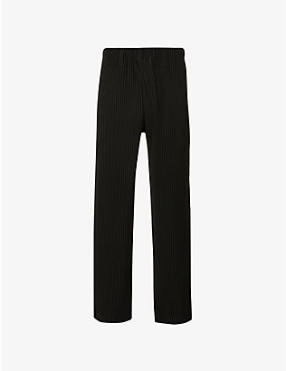 HOMME PLISSE ISSEY MIYAKE: Pleated straight woven trousers