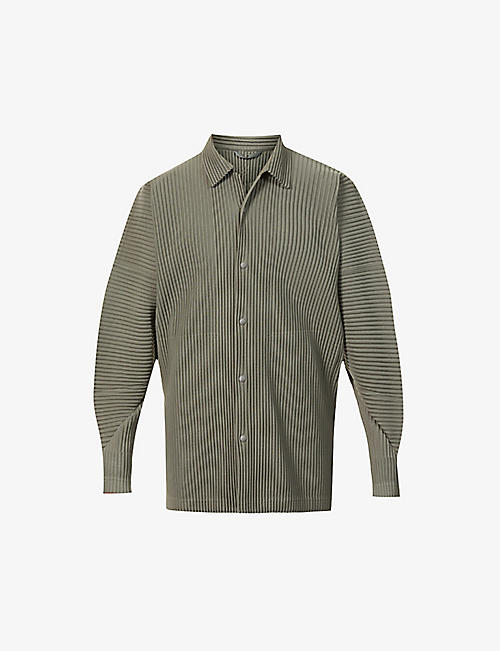 HOMME PLISSE ISSEY MIYAKE: Pleated relaxed-fit woven shirt
