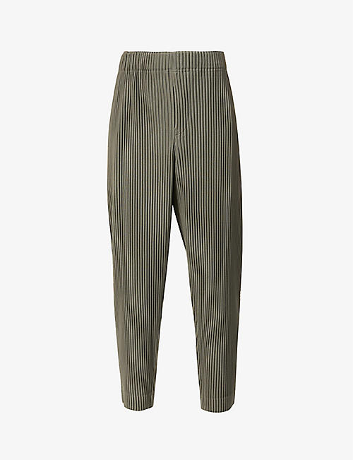 HOMME PLISSE ISSEY MIYAKE: Pleated tailored-fit woven trousers