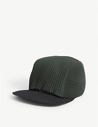 HOMME PLISSE ISSEY MIYAKE: Pleated woven cap