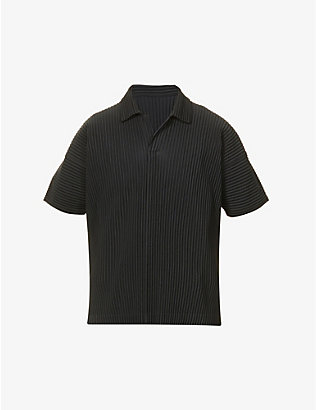HOMME PLISSE ISSEY MIYAKE: Pleated short-sleeved woven T-shirt