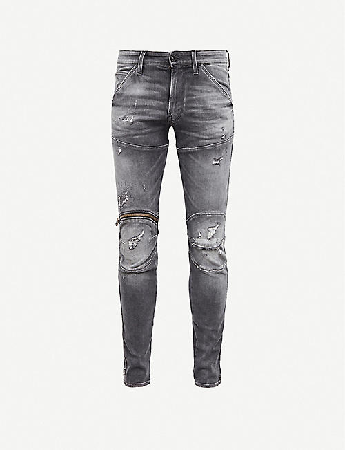 G-STAR: 5620 3D zipped skinny jeans