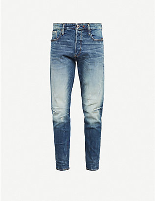 G-STAR: 3301 Slim faded slim-fit jeans